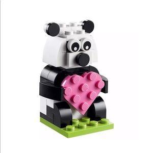 LEGO Mini Build Valentine Love Panda Polybag New